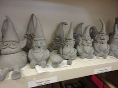 Pinch Pot Middle School Gnomes - oh, this is so going to be my eighth grade pottery lesson this year!