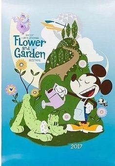 aa610bbb893f4 Disney Park  17 Epcot Flower Garden Festival Poster NEW Mickey Pluto  Topiary 36