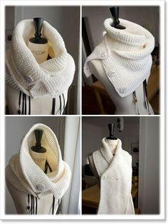 SNOOD Tube Tour de Cou TRANSFORMABLE Col Echarpe frange scarf Transformer Snood