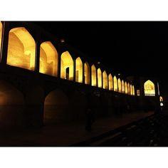 Last Night  #khaju #bridge #esfahan #trip #travel #iran #isfahan #potd #photooftheday #sightseeing #family #life #love #view #vacation #vacay #night #atnight #lights by sarahjosephineeee