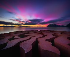 Beach Sculpture Sunset, Norway photo via thingssheloves All Nature, Amazing Nature, Norway Nature, Beautiful World, Beautiful Places, Beautiful Scenery, Beautiful Sunset, Amazing Places, Celestial
