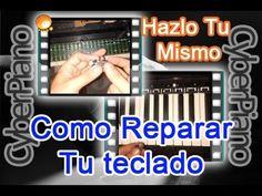 En este video se explica como reparar el teclado de cualquier piano de tecla…