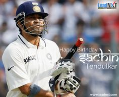 May your special day be packed with all the joy, peace and glory you wish for. Happy birthday. #LeadNXT #HappyBirthdaySachinTendulkar www.leadnxt.com