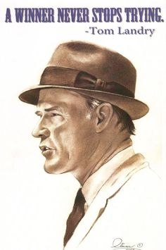 Tom Landry..hand drawn via Etsy