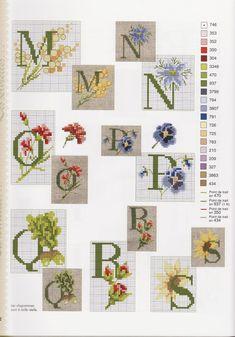 Floral Alphabet Cross Stitch Pattern mosca.gallery.ru watch?ph=p1E-c4qDM&subpanel=zoom&zoom=8 3/4