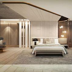 New Bedroom Art Romantic Interior Design Ideas Interior Ceiling Design, Bedroom False Ceiling Design, Home Interior, Bedroom Loft, Master Bedroom, Bedroom Decor, Bedroom Lighting, Trendy Bedroom, Modern Bedroom