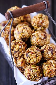 Vegan No Bake Pumpkin Balls from The Cleaner Plate Club