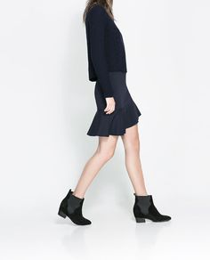 Image 3 of SKIRT WITH ASYMMETRIC FRILL from Zara