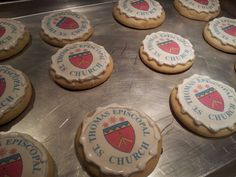 Edible image cookies for a church event