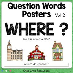 Do your students have problems remembering question words or what questions to answer when describing a new document ? Then these posters are perfect ! L'article Question Words Posters & Vol 2 est apparu en premier sur Chez Chris. Esl Resources, School Resources, Teacher Resources, Teaching Ideas, What If Questions, This Or That Questions, Word Poster, Interactive Activities, Elementary Teacher