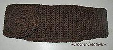 Ravelry: Crochet Headband with a Crochet Flower pattern by Amy Lehman