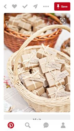 Rustic Wrapping for Bonbonniers