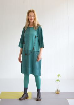"""""""Piri-piri"""" dress in modal/eco-cotton – Cotton/modal jersey – GUDRUN SJÖDÉN – Webshop, mail order and boutiques 