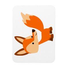 Cute Friendly Cartoon Fox Flexible Magnet