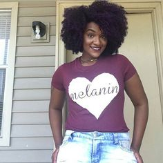 """Melanin Love"" Tee http://www.shorthaircutsforblackwomen.com/hair-steamers-for-natural-hair/ Available at #naturalhair #teamnatural http://www.shorthaircutsforblackwomen.com/hair-steamers-for-natural-hair/"