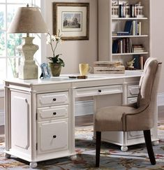 White Executive Desk With Drawers altra parsons white laptop/ writing desk (white laptop writing