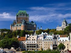The awesome Chateau Frontenac in Quebec City Ontario Canada Places Around The World, Oh The Places You'll Go, Great Places, Places To Travel, Places To Visit, Around The Worlds, Old Quebec, Quebec City, Montreal Quebec