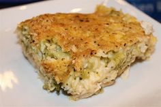 What I am having for supper tonight!  Cheesy Chicken Broccoli & Rice Bake!