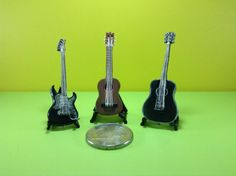 Realistic miniatures musical instrument:guitars by WizzyArtCreation