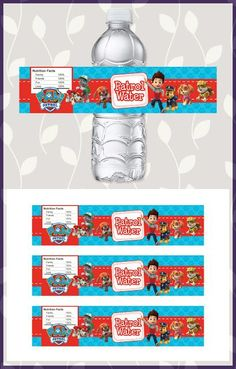 🎂 The perfect addition to your Paw Patrol Party - Paw Patrol Water Bottle Labels! 🎂 These Paw Patrol Drink Labels are printable, digital Paw Patrol Paw Patrol Party Favors, Paw Patrol Birthday Theme, Paw Patrol Cake, 4th Birthday Parties, Birthday Fun, Birthday Ideas, Invitation Fete, Cumple Paw Patrol, Twin Birthday