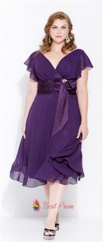 Purple Chiffon Bridesmaid Dresses, Purple Homecoming Dresses