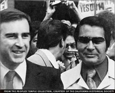 Jerry Brown (yes, today Governor of California) with his friend, who he praised, Jim Jones of the Kool-Aid cult People's Temple. Governor Of California, Jerry Brown, Political Views, Political Figures, Second Best, God Bless America, Ted, Believe, Religion