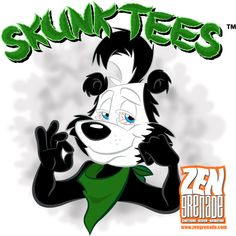 Stoned Cartoon Characters | Stoned Skunk Cartoon character logo