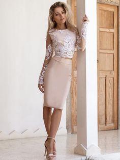 c6061651a Conjuntos de falda de encaje y falda de encaje Conjunto De Falda De Encaje