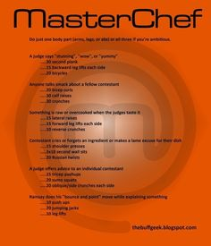 MasterChef | 43 Workouts That Allow You To Watch An Ungodly Amount Of Television