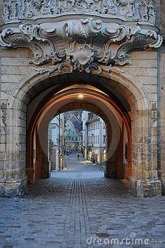 Passageway in Bamberg, Germany