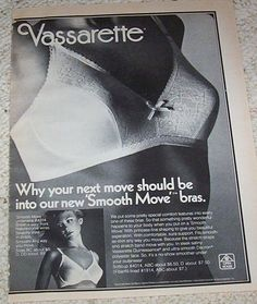 1975 ad page - Vassarette Bra lingerie CUTE GIRL  vintage advertising ADVERT #Vassarette