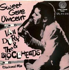 "Ian Dury & The Blockheads - Sweet Gene Vincent [1977, Stiff Records SRS 510.051│Netherlands] - 7""/45 vinyl record"