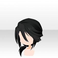 nu attrade anime hair dark black low ponytail loose with long bangs in front Anime Ponytail, Ponytail Drawing, Anime Boy Hair, Manga Hair, Pelo Anime, Chibi Hair, Hair Sketch, Drawing Base, How To Draw Hair
