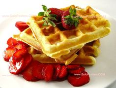 Masa básica de waffles dulces