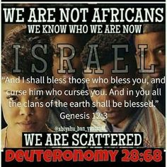 It is OUR HEBREW DIASPORA NOT PAN AFRICANISM that The Most High will retrieve from the four corners of the earth.  Don't get lost singing 'we are the world' with other so-called 'black' skinned people of other nations.  They are very much a part of the reason we went into slavery this second time around as well as were slave masters to us before! #YallAintFoolinNobodyAnymore