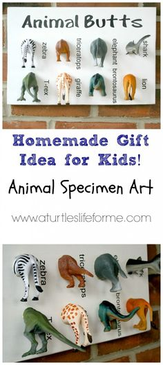DIY animal specimen art for kids - gift idea using your Silhouette
