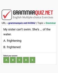 English Grammar Quiz, English Grammar Exercises, English Quiz, English Course, Learn English, English Language, Ielts, My Sister, Sisters