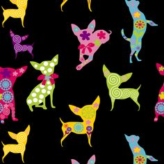 NEW NEW NEW Happy Chihuahua fabric by lil_creatures on Spoonflower - custom fabric