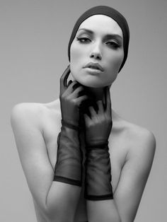 Black and White Fashion Portrait by David Benoliel Photography