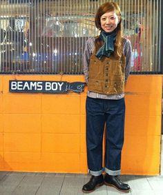 Mr.FREEDOM / コットンリネン ブラウン ベスト BEAMS BOY[ビームス ボーイ]  BEAMS Online Shop [ ビームスオンラインショップ ] Rugged Girl in this case