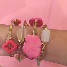 #Pink #Bangles #Bracelets #Gold #ArmCandy #Accessories #Handmade #Jewelry #Unique #OneOfAKind