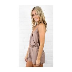 ⭐️Beige Halter Romper With Pockets⭐️ Amazing Beige colored Romper with a halter top and V-neck. Perfect for the Spring and Summer. I have small, medium and large available! Pure Hype Pants Jumpsuits & Rompers
