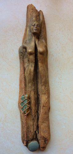 Christine Split~carved driftwood (etsy~sold)