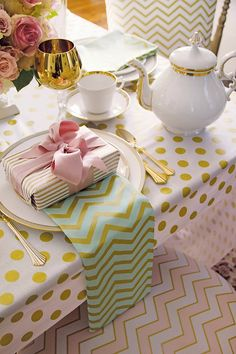 making it fun: Glitz Up Your Party! Cute fabric.