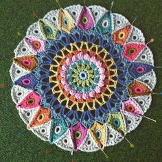 Part III of mandala cushion