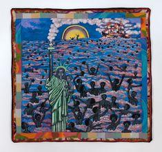 Faith Ringgold's Painted and Sewn Survey of United States History - OriginalArt African American Artist, American Artists, Faith Ringgold, Strong Faith, American Quilt, Elementary Art, Best Artist, Art Studios, Fiber Art