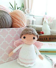Ravelry: Little Angel pattern by Sedef Bay (Kedi Peri Atölyeleri) Crochet Angel Pattern, Crochet Angels, Crochet Hats, Security Blanket, Make A Gift, Amigurumi Doll, Tweety, Lana, Ravelry