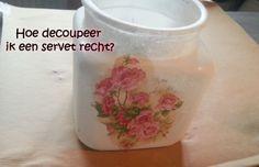 Hoe decoupeer ik een servet netjes op een glazen pot? How to tutorial