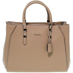 Guess Bag ($170) ❤ liked on Polyvore featuring bags, handbags, guess bags, taupe purse, beige purse, guess handbags and satchel handbags