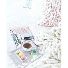 The perfect evening is spent with a chunky blanket and curled up with a cup of tea and some sweet treats served up on one of our gorgeous trays. has it totally worked out. To find this search 'birch wood tray' on dtll. Chunky Blanket, Wood Tray, Breakfast In Bed, Coconut Flakes, Trays, Lemonade, Birch, Sweet Treats, Tea Cups